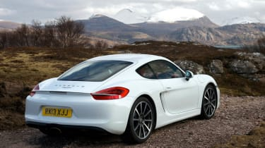 2013 Porsche Cayman white rear