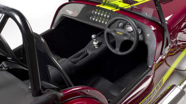New Caterham 620R interior dashboard