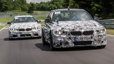 New BMW M3 and M4: Nurburgring testing