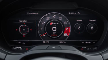 Audi RS3 Saloon Red dials