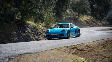 Porsche 718 Cayman T review - front quarter