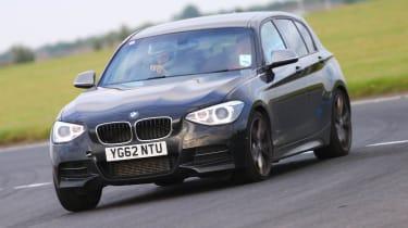 BMW M135i on track