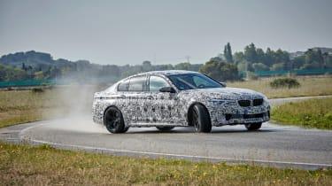 BMW M5 prototype - front cornering