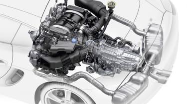 2013 Porsche Cayman technical drawing