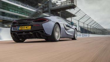 McLaren 570S Track Pack - rear tracking