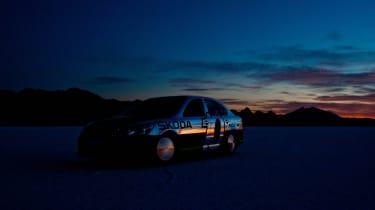 Skoda Octavia at Bonneville – dark