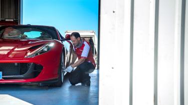 Ferrari 812 Superfast Anglesey - checks