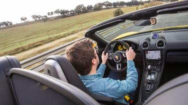 Porsche 718 Boxster GTS – over-shoulder
