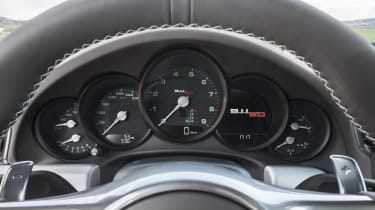 Porsche 911 50 Years Edition new dials steering wheel paddles