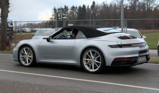 Porsche 911 Cabrio spy - rear quarter