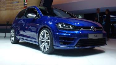 VW Golf R mk7 blue front