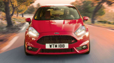 2013 Ford Fiesta ST red Aston Martin-style front grille