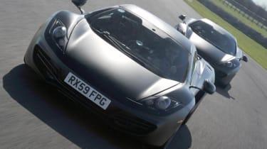 McLaren MP4-12C supercar by Button and Hamilton