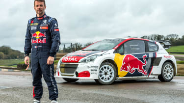 Sebastien Loeb with his 2017 Peugeot 208 WRX