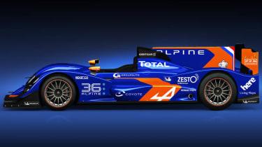 Alpine 2013 Le Mans car side profile