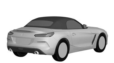 BMW Z4 patent leak - rear quarter