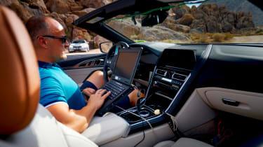BMW 8-series cabrio test - dash