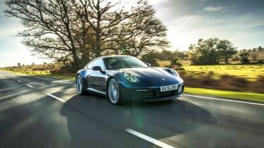 Porsche 911 Carrera S manual blue - tracking quarter