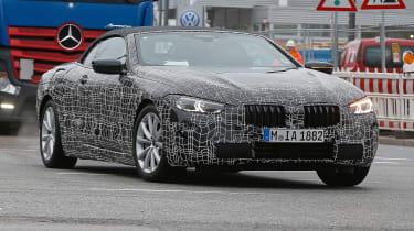 BMW 8-series Cabriolet spied -