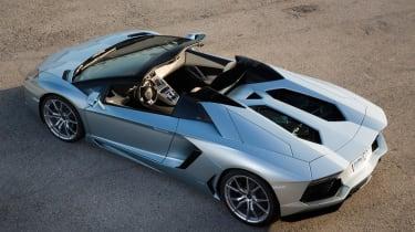 Lamborghini Aventador LP700-4 Roadster rear roof open