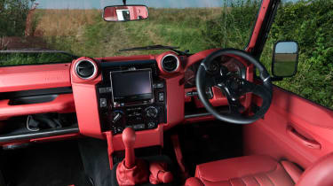 Twisted Land Rover Defender front interior dashboard