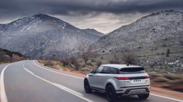 2019 Range Rover Evoque silver - rear.