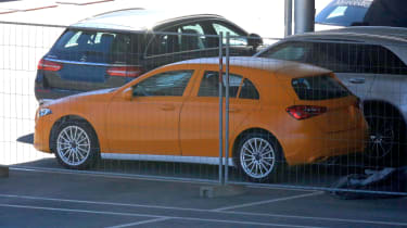 Mercedes A-Class spy - rear quarter