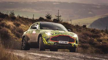 Aston Martin DBX prototype - sliding