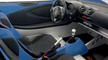 New Lotus Elise S Club Racer interior dashboard seats