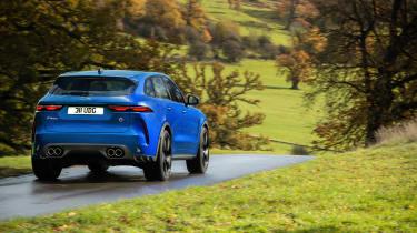 Jaguar F-Pace SVR 2021 rear quarter