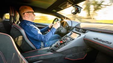 Lamborghini Aventador SVJevo – interior driving