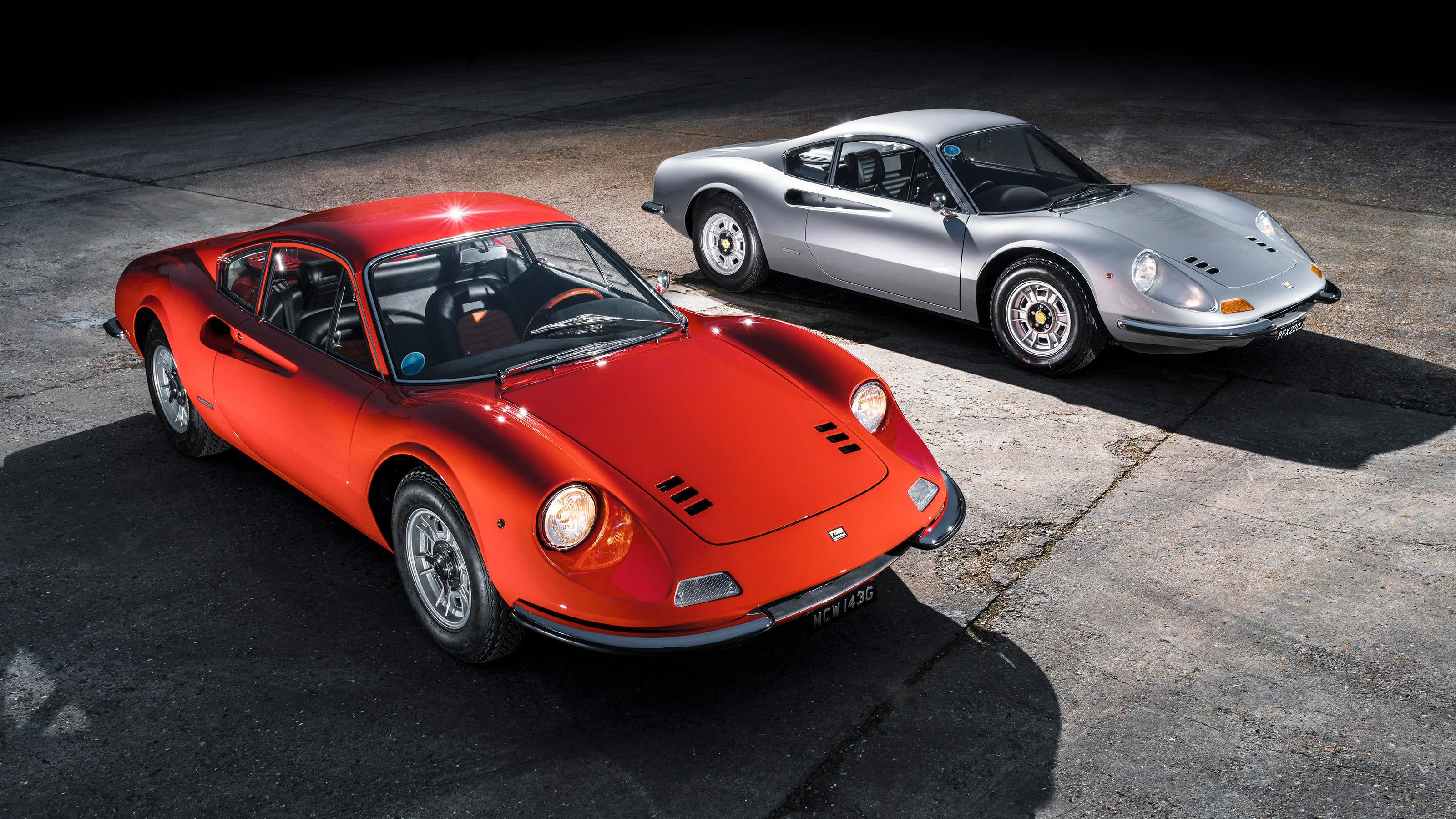 Ferrari Dinos Go Head To Head 246 Gt V 206 Gt Evo