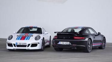 Porsche 911 Martini Racing Edition black and white