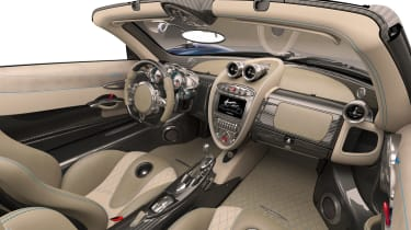 Huayra roadster interior