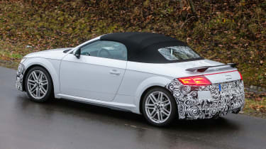 Audi TT spy - roadster rear