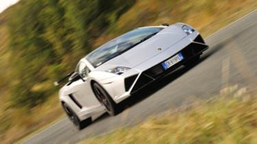 Lamborghini Gallardo Squadra Corse front cornering