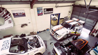 Audi S1 quattro rally car and Ford Sierra Cosworth RS500 touring car