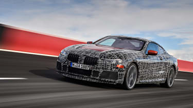 BMW 8 series official spy shots tracking