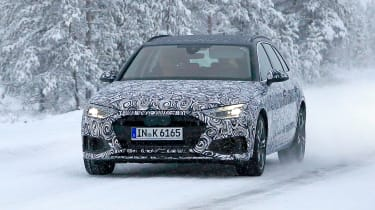 New Audi A4 spied front