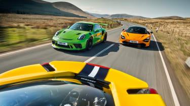 Lamborghini Aventador SVJ vs Porsche 911 GT3 RS vs Ferrari 488 Pista vs McLaren 720s track pack
