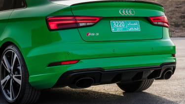 Audi RS3 Saloon Green rear