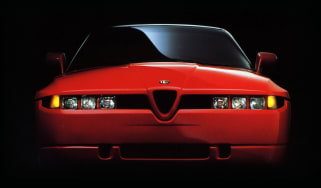 Alfa Romeo SZ headlights