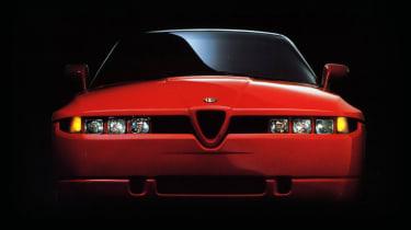 Alfa Romeo SZ headlights