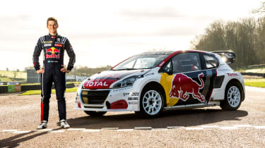 Timmy Hansen with his 2017 Peugeot 208 WRX