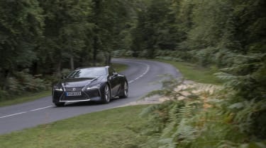 Lexus LC500 MY21 - cornering front