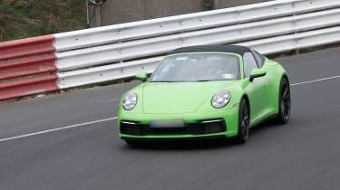 Porsche 911 Targa spy - nose