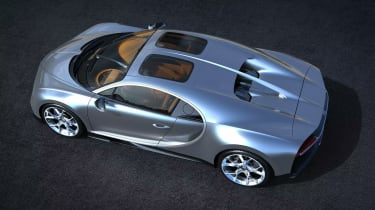 Bugatti Chiron Sky View rear three quarters