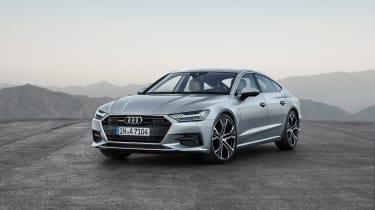 2018 Audi A7 Sportback press - front quarter 4