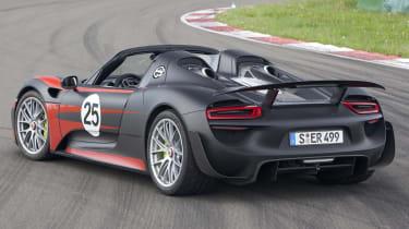 2013 Porsche 918 Spyder rear roof off