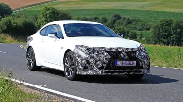 Lexus RC facelift spy - front